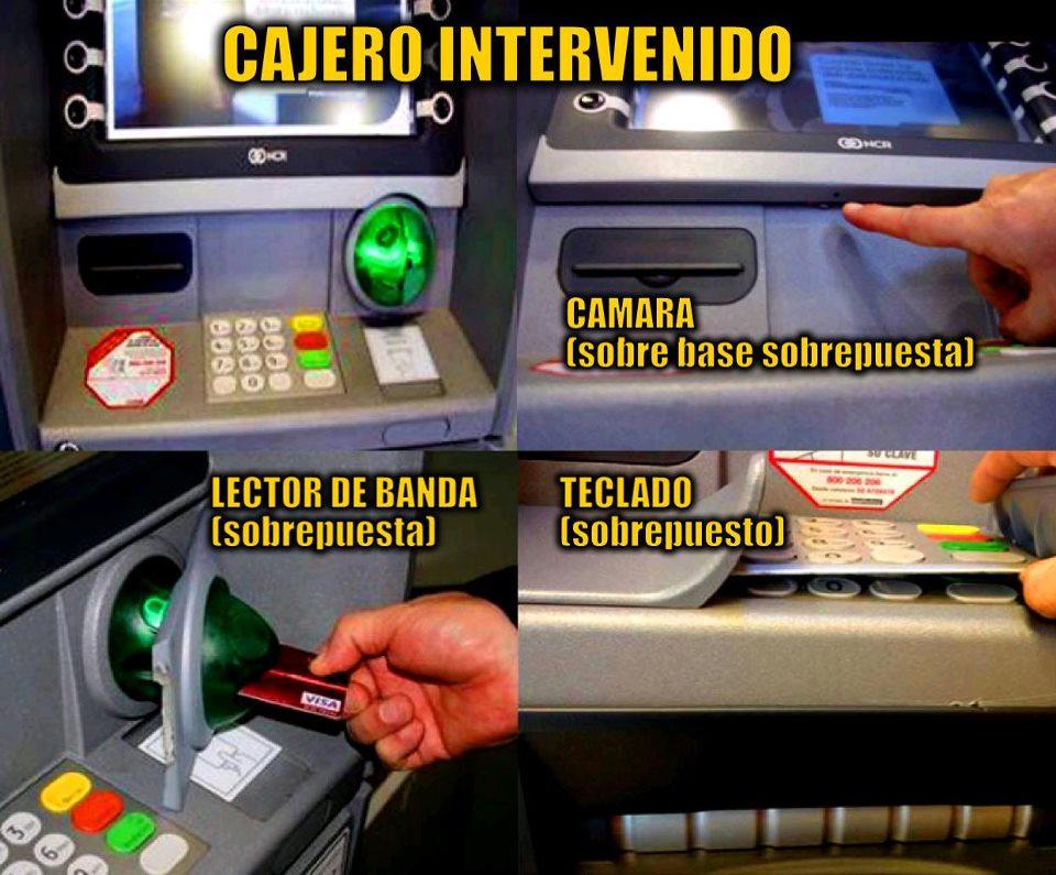 Es posible clonar tarjetas bancarias con chip for Cuanto se puede retirar de un cajero